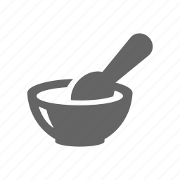 bowl, food, mix, spoon icon