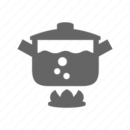 boil, bouble, cooking, food, pan, pot, water icon