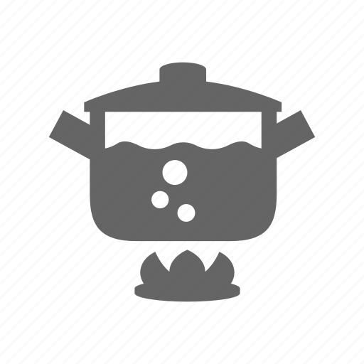 Food, pot, cooking, water, boil, pan, bouble icon - Download on Iconfinder