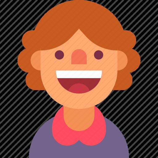 avatar, happy, mom, mother, smile, teacher, woman icon