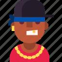 african, avatar, chain, gangsta, guy, man, rap icon