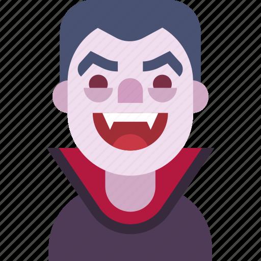 avatar, dracula, fangs, helloween, man, monster, vampire icon