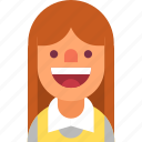 avatar, girl, housekeeper, maid, positive, smile, woman icon
