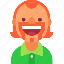 avatar, ginger, guy, irishman, man, mustache, smile icon