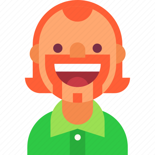 avatar, ginger, guy, irishman, man, mustache, smile icon