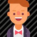 avatar, bow, man, musician, tie, tux, tuxedo icon