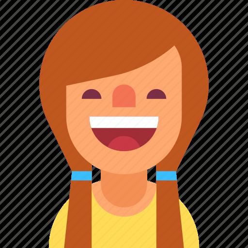 avatar, braids, cute, girl, positive, smile, woman icon