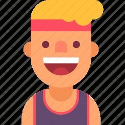 athlete, avatar, guy, man, runner, sport, sportsman icon