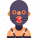 avatar, bdsm, gag, man, mask, rubber, slave icon
