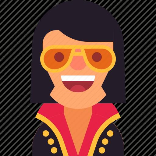 avatar, elvis, glasses, man, musician, rock, roll icon