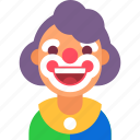 avatar, celebration, circus, clown, happy, party, smile icon