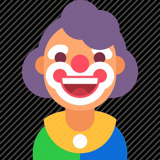 avatar, celebration, circus, clown, happy, party, smile icon