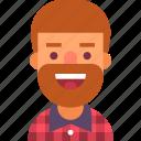 avatar, beard, guy, llumbersexual, man, plaid, shirt icon