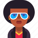 african, afro, avatar, glasses, man, rap, rock icon