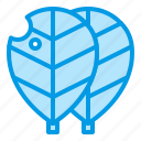 almond, aquarium, equipment, leaves, nature icon