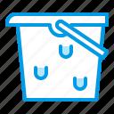 aquarium, bucket, equipment, tool, water icon