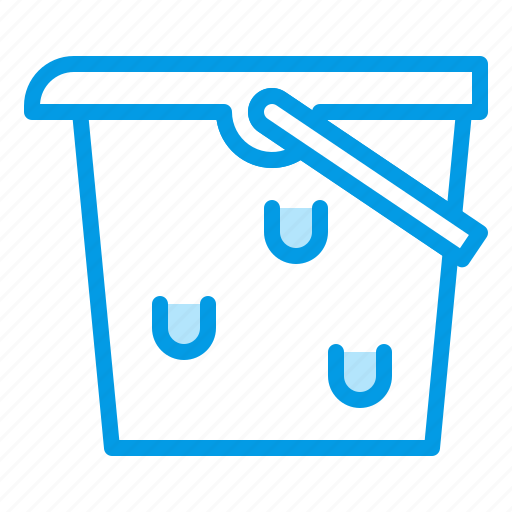 aquarium, bucket, equipment, tool, water icon