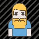 beard, handsome, hipster, men icon