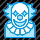 bluetone, character, clown, cosplay, halloween, horror, men icon