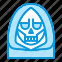 bluetone, death, demon, devil, halloween, last, reaper icon