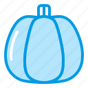 autumn, bluetone, fall, halloween, pumpkin, vegetable icon