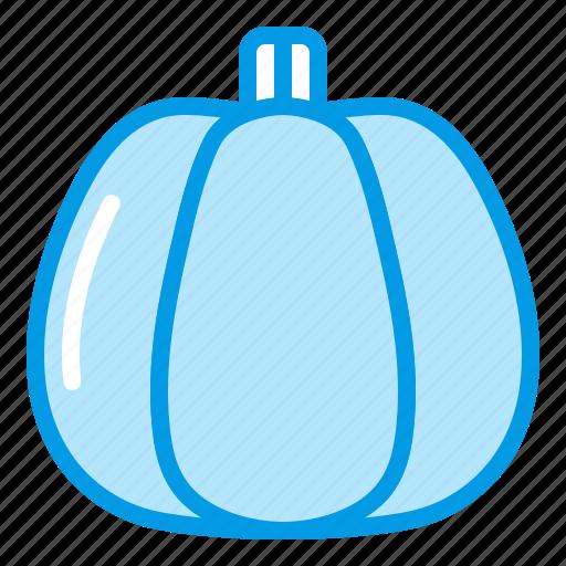 autumn, bluetone, fall, halloween, pumpkin, vegetable icon