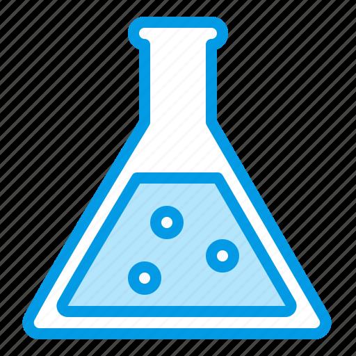 bluetone, conical, flask, glassware, halloween, laboratory, science icon