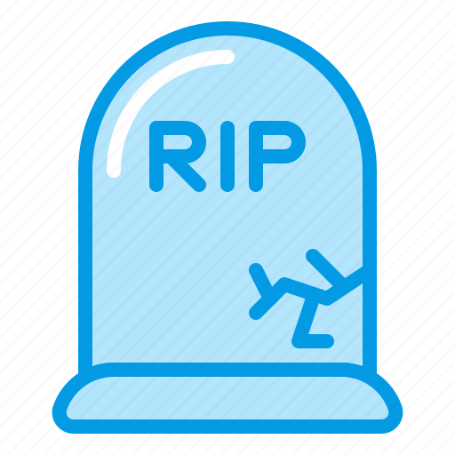 bluetone, dead, death, grave, halloween, tomb icon