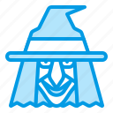 bluetone, halloween, magic, magician, witch, wizzard icon