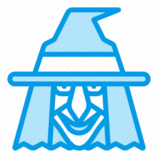 bluetone, halloween, magic, magician, witch, wizzard icon