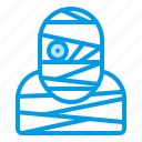 bluetone, character, halloween, horror, mummy, zombie icon