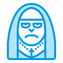 bluetone, character, halloween, horror, monk, nun icon