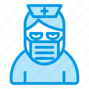 bluetone, character, halloween, horror, hospital, nurse icon