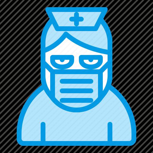 bluetone, character, halloween, horror, hospital, nurse icon