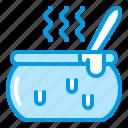bluetone, caldron, cooking, halloween, magic, pot icon