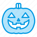 bluetone, halloween, horror, jackolantern, pumpkin icon