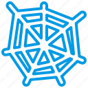 bluetone, bug, halloween, horror, insects, spider, spiderweb icon