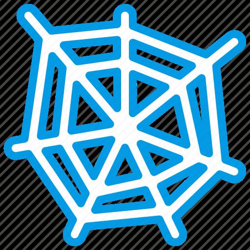 bluetone, bug, halloween, horror, insects, spider, spiderweb icon