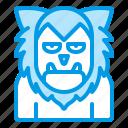 bluetone, character, halloween, horror, werewolf, wolf, wolfman icon