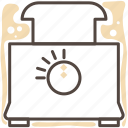 cook, cooking, food, kitchen, kitchen gear, meal, toaster icon