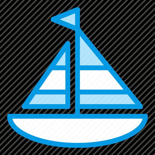 beach, boat, ship, sports, summer icon