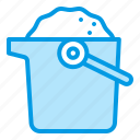 bucket, sand, summer, tool icon