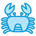animals, beach, crab, food, marine, sea, summer icon