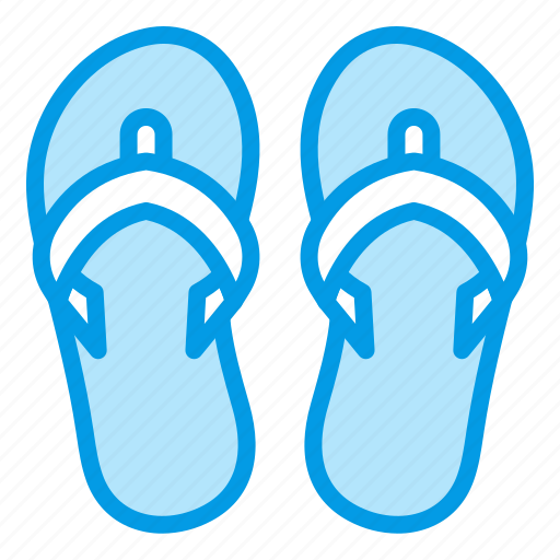 beach, flipflope, pool, slippers, summer icon