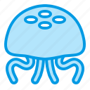 animal, jellyfish, marine, sea, summer icon