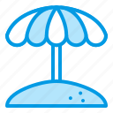 beach, parasol, summer, suncare, umbrella icon