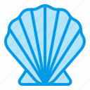 clam, marine, sea, seafood, seashell, summer icon