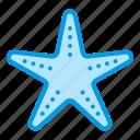 animal, beach, marine, sea, starfish, summer icon