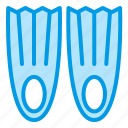 fin, summer, supplies, swimming, tool icon
