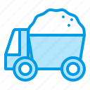 sand, summer, truck, vehicle icon